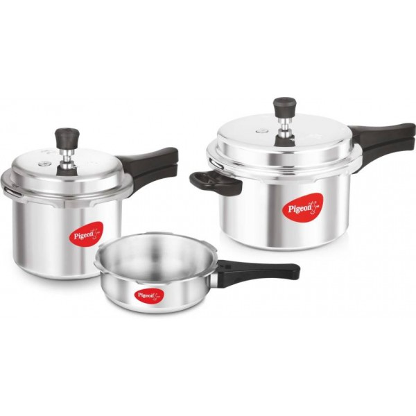 Pigeon Special Combo Pack 2 L, 3 L, 5 L Pressure Cooker with Induction Bottom  (Aluminium)