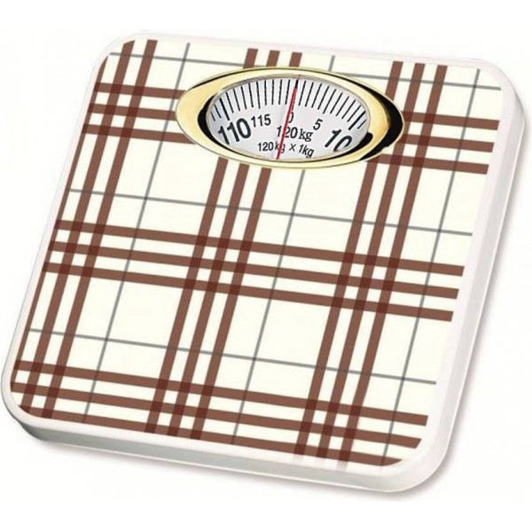WDS Personal Analog Weighing Scale 120 Kg (Brown & White) Weighing Scale  (Brown)
