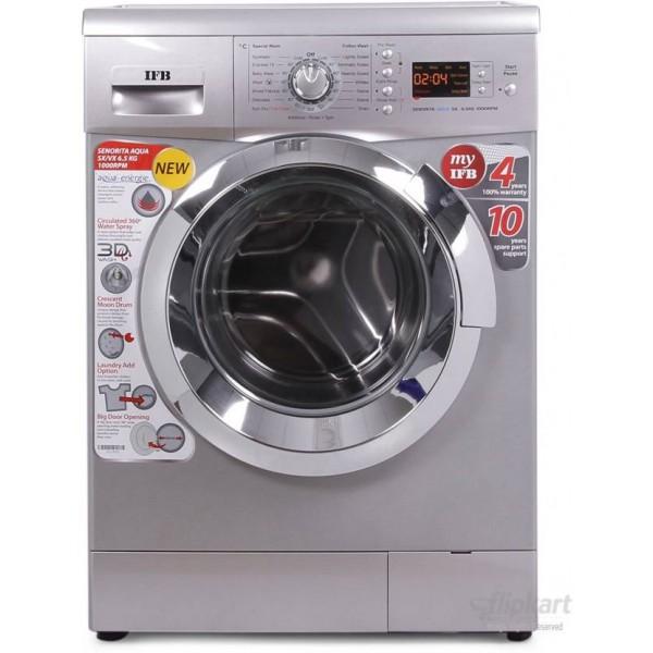 IFB 6.5 kg Fully Automatic Front Load Washing Machine Silver  (Senorita Aqua SX - 6.5 KG)