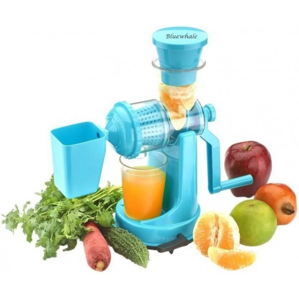 Bluewhale Fruit & Vegetable Juicer with Waste Collector SkyBlue Plastic Hand Juicer  (Blue Pack of 1)