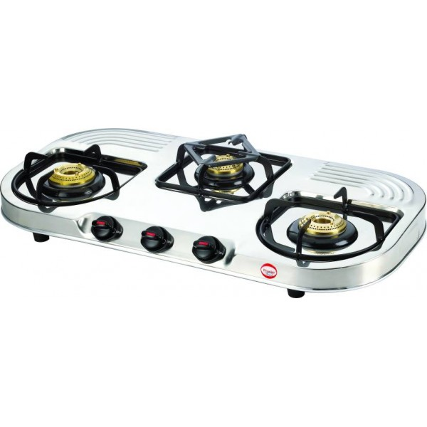 Prestige Royale Stainless Steel Manual Gas Stove  (3 Burners)