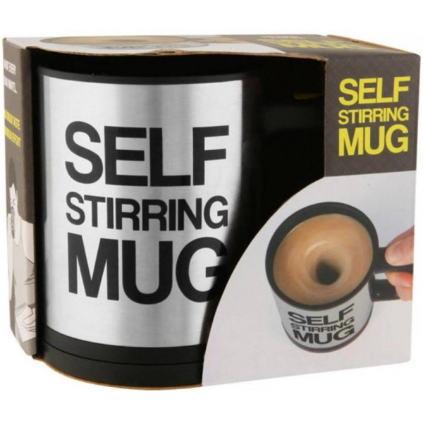 INFIPRISES Self Stirring Stainless Steel Mug  (350 ml)