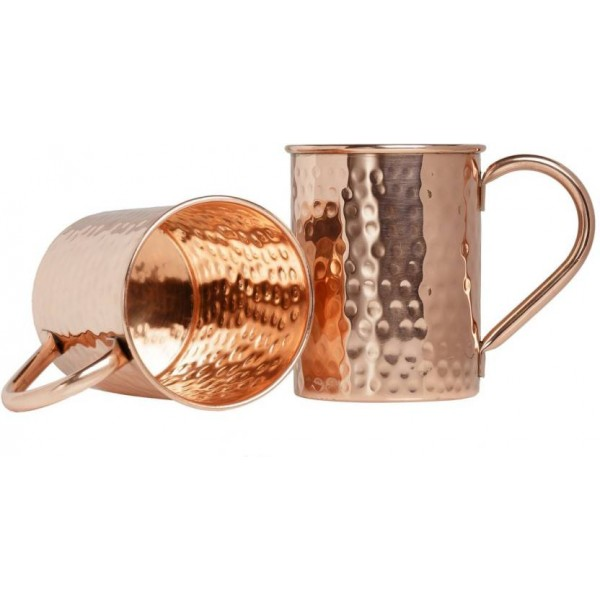 zamzug zam001 Copper Mug  (450 ml, Pack of 2)