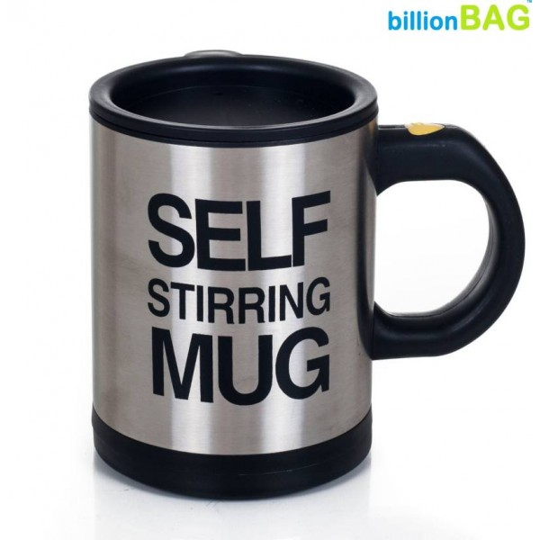 Billionbag Self Stirring Tea Plastic, Stainless Steel Mug  (500 ml)