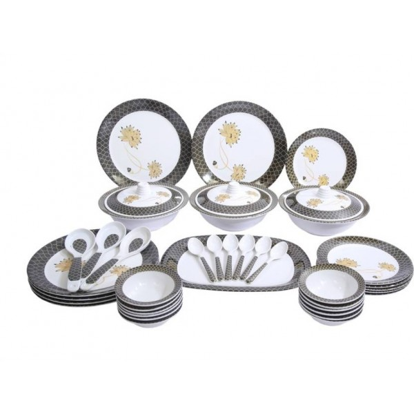 Fortune Melamine dinner set of 40 pieces Pack of 40 Dinner Set  (Melamine)