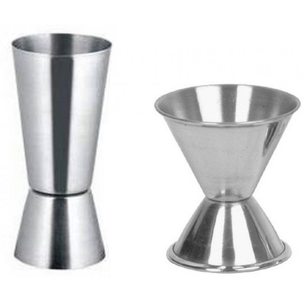 Dynore Double Sided Peg measures 30&60, 20&40 ml each 2 - Piece Bar Set  (Stainless Steel)