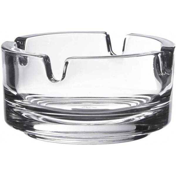 Pasabahce Clear Glass Ashtray  (Pack of 2)