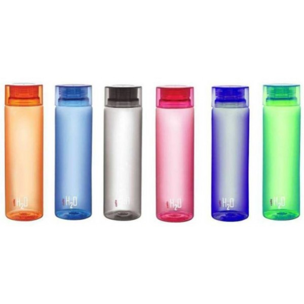 Cello cello H2O 1000 ml Bottle  (Pack of 6, Red, Blue, Green, Grey, Orange, Pink)