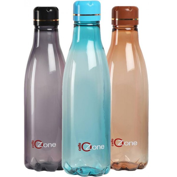 Cello Ozone 1000 ml Bottle  (Pack of 3, Brown, Blue, Grey)