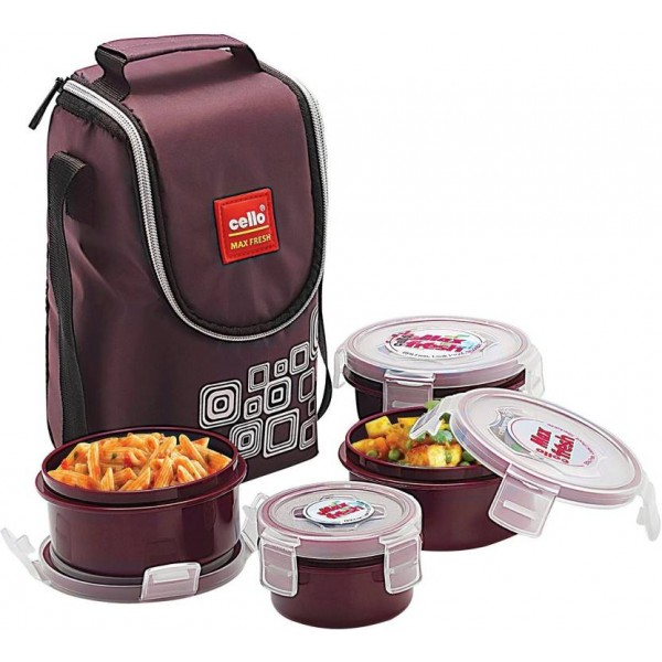 Cello Max Fresh Click 4 Containers Lunch Box  (500 ml)