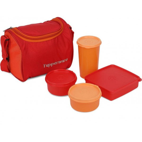 Tupperware TP-187 4 Containers Lunch Box  (1000 ml)