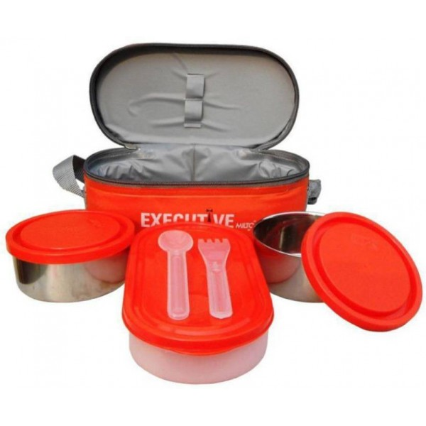 Milton Executive 3 Containers Lunch Box  (400 ml)