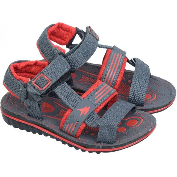 BUNNIES Boys Velcro Strappy Sandals  (Red)