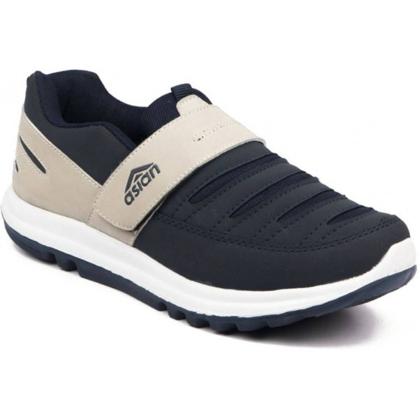 Asian Boys Velcro Running Shoes  (Blue)