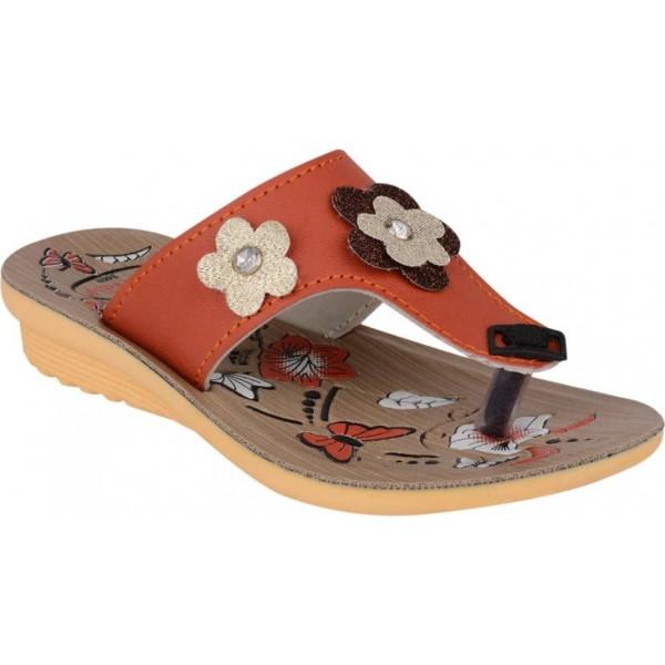 WINDY Girls Slip-on Flats  (Orange)