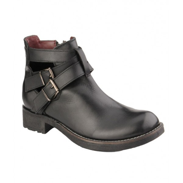 Delize Black Ankle Boots