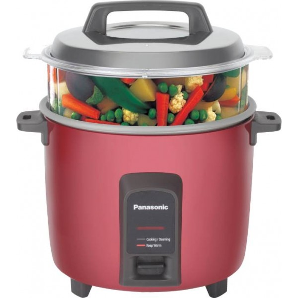 Panasonic SR-Y22FHS Electric Rice Cooker with Steaming Feature  (2.2 L, Burgundy)