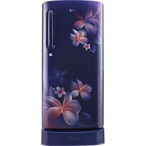 LG 190 L Direct Cool Single Door 4 Star Refrigerator  (Blue Plumeria, GL-D201ABPX)