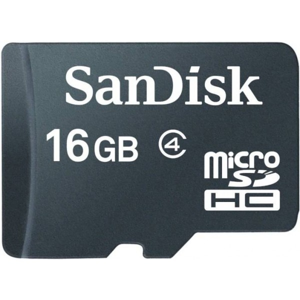 Sandisk 16 GB MicroSD Class 4 Memory Card