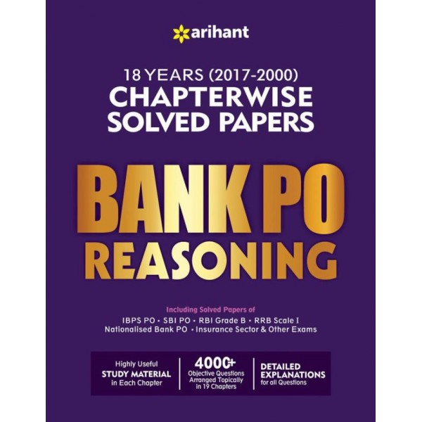Bank PO Reasoning Chapterwise Solved Papers  (English, Paperback, Arihant)