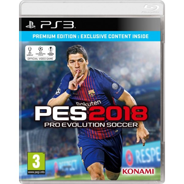 Pro Evolution Soccer 2018 (Premium Edition)  (for PS3)