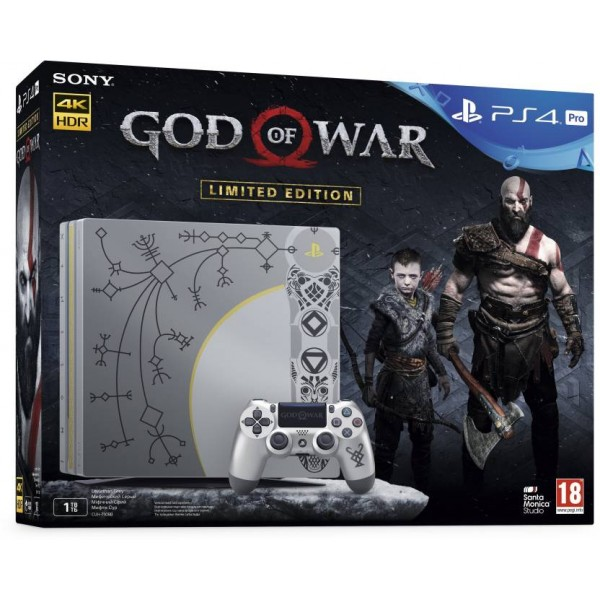 Sony PS4 Pro 1 TB with God of War  (Leviathan Grey)