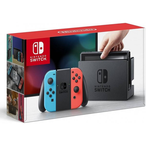 Nintendo Switch with Joy‑Con 32 GB  (Neon Blue, Neon Red)