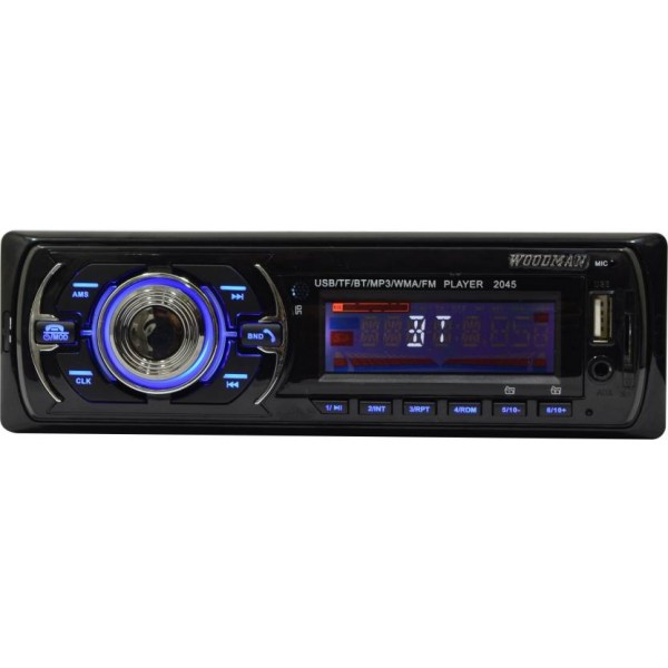 Woodman Single Din FM/USB/Bluetooth Car Stereo  (Single Din)