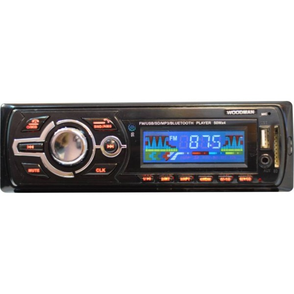 Woodman Single Din WM002 FM/USB/ Bluetooth WM-13 Car Stereo  (Single Din)