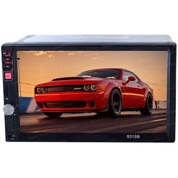 Auto Garh 7Inch Double Din Touch Screen with Bluetooth Rear View Camera Support Remote Control(Double Din)