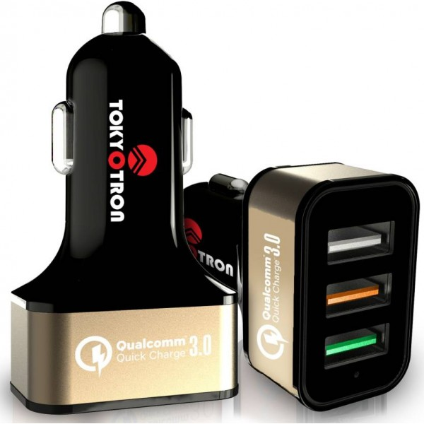 Tokyotron 6.3 amp Turbo Car Charger  (Black)