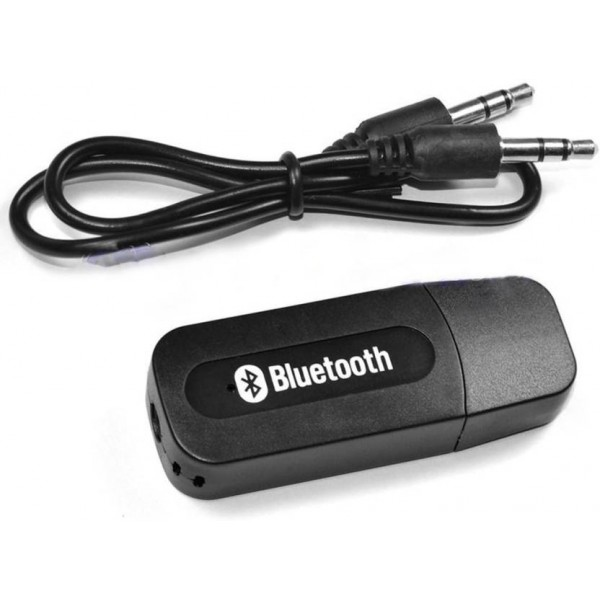 KOJO v2.1+EDR Car Bluetooth Device with 3.5mm Connector, Adapter Dongle, Transmitter, USB Cable, Audio Receiver  (Black)