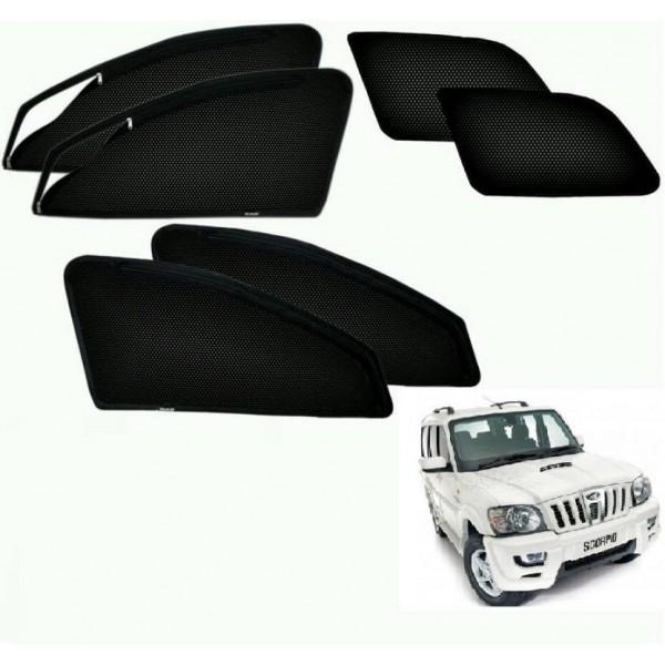 Auto Hub Side Window Sun Shade For Mahindra Scorpio  (Black)
