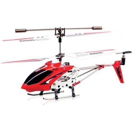 Miss & Chief Metal Helicopter 3 Channel Infrared Remote Control with Gyroscope n LED Lights for Indoor Red  (Red)