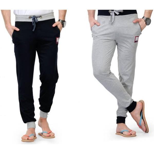 FeelBlue Chevron Men's Black, Grey Track Pants