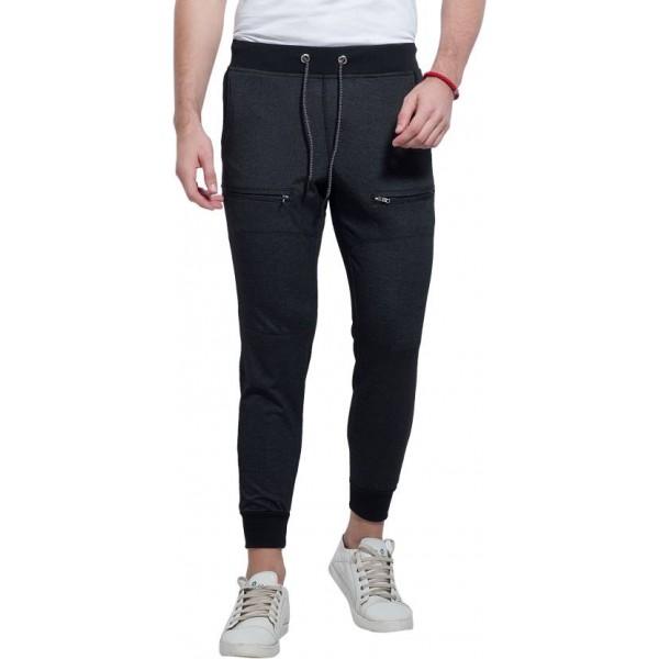 Alan Jones Solid Men's Black Track Pants