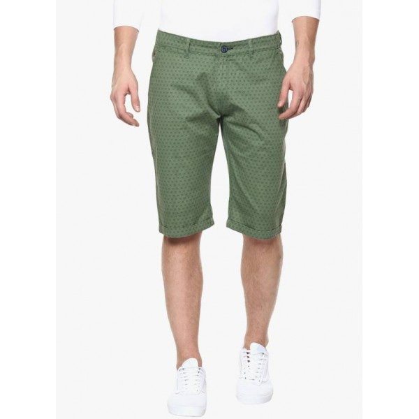 Crimsoune Club Printed Men Green Chino Shorts
