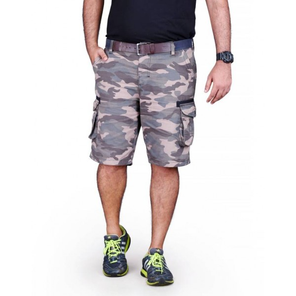 ELLIMA FASHION AND RETAIL PRIVATE LIMITED Printed Men Grey Bermuda Shorts, Cargo Shorts