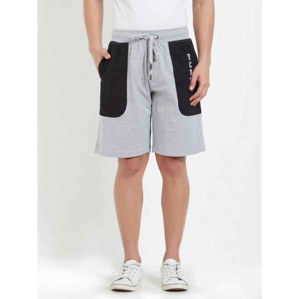 FCUK Solid Men's Grey Night Shorts