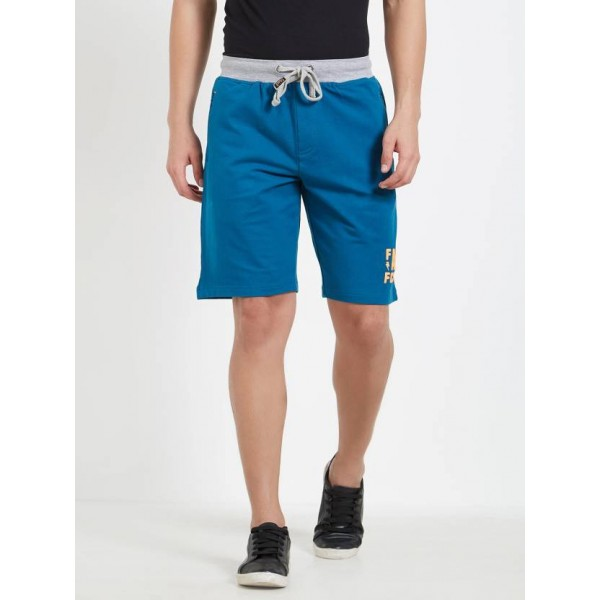 FCUK Solid Men's Blue Night Shorts