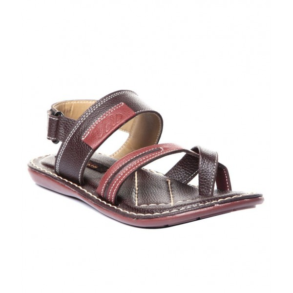 Trilokani Unique Brown Sandals For Boys