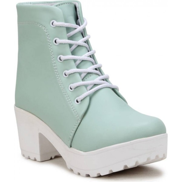 FASHIMO Boots For Women  (Green)
