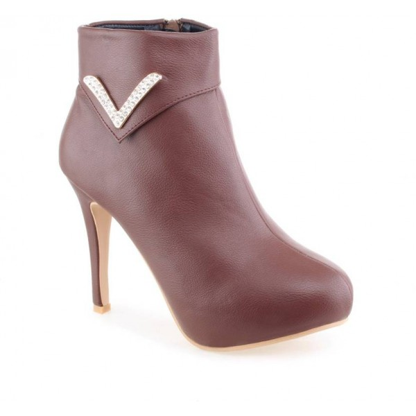 Shuz Touch Boots For Women  (Brown)