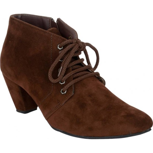 Exotique EL0040BR Boots For Women  (Brown)