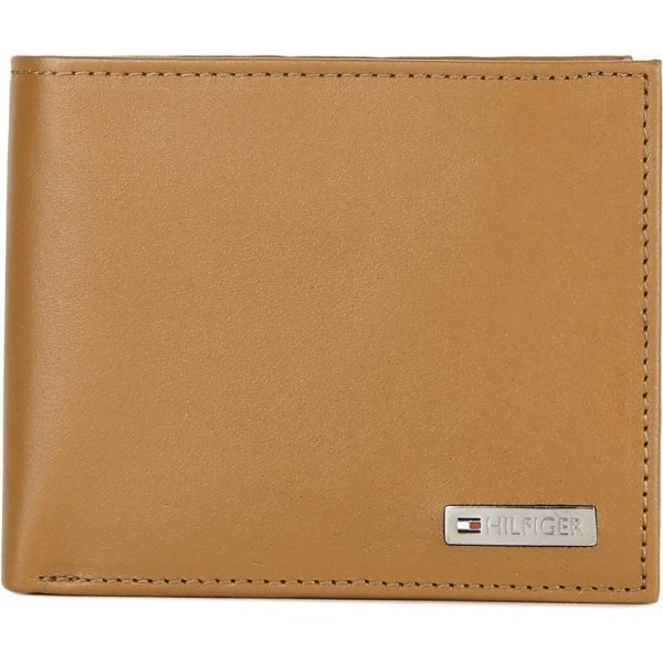 Tommy Hilfiger Men Tan Genuine Leather Wallet  (8 Card Slots)