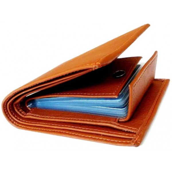 Just Leather Men Tan Artificial Leather Wallet  (6 Card Slots)