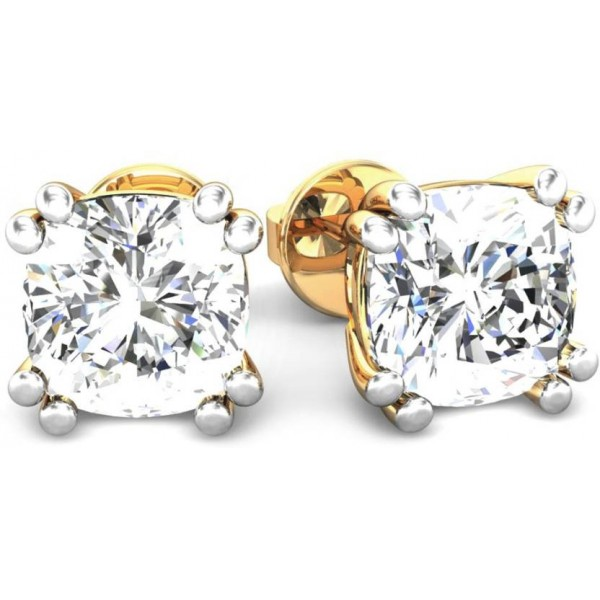 Samaira Gem and Jewelery Spring Sparkle Yellow Gold 14kt Swarovski Crystal Stud Earring