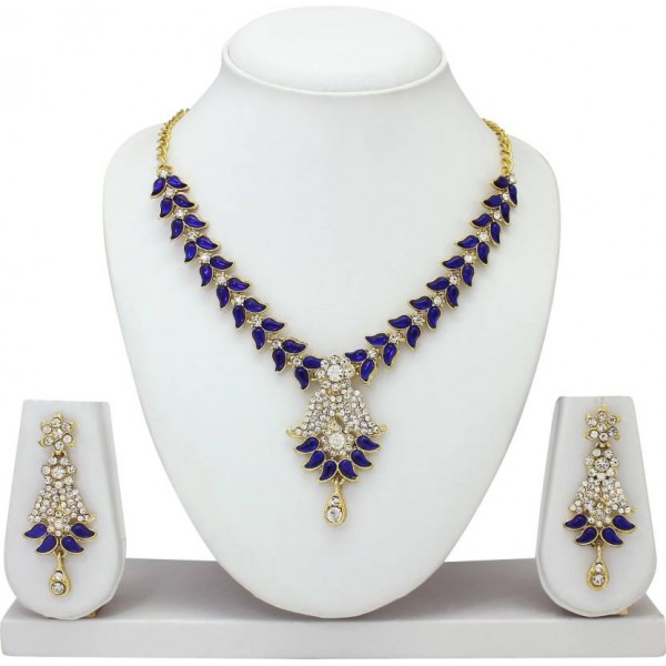 Atasi International Alloy Jewel Set  (Blue)