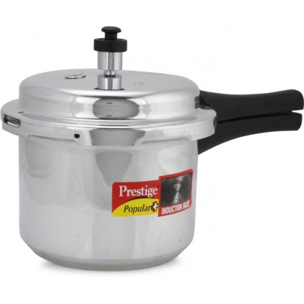 Prestige Popular Plus 3 L Pressure Cooker with Induction Bottom  (Aluminium)