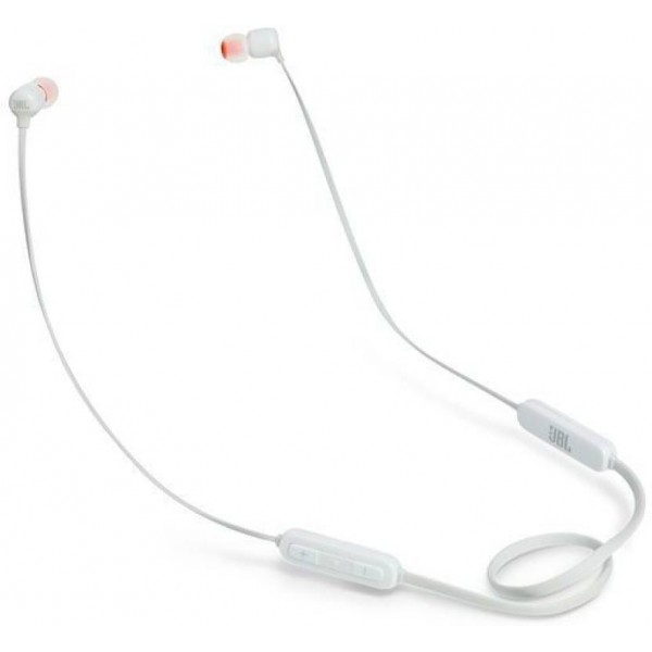 JBL T110BT Pure Bass Bluetooth Headset with Mic  (White, In the Ear)